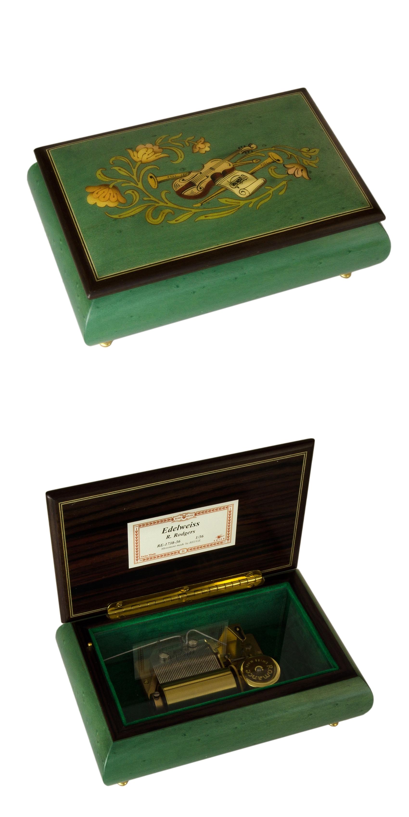 Rodi 1636cvo07 Green Rodi Music Box Souvenir Amp More