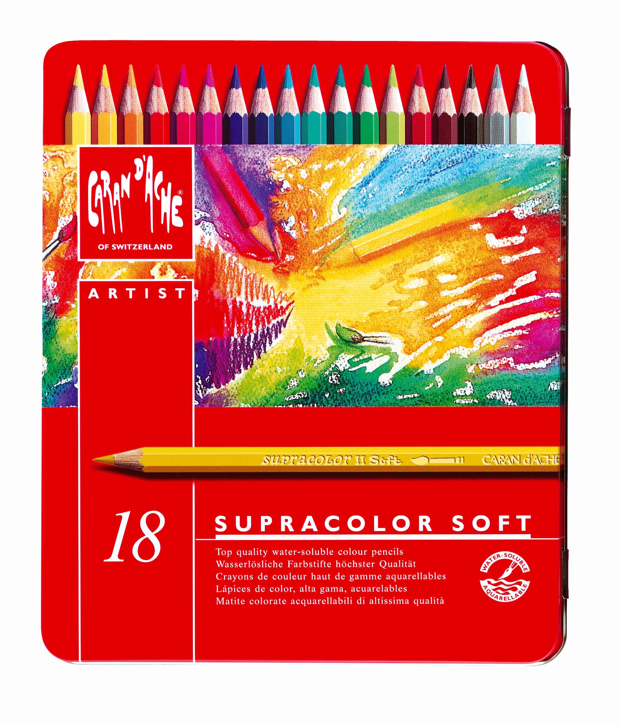 Caran D Ache Supracolor 174 Soft Aquarelle 18 Pencils