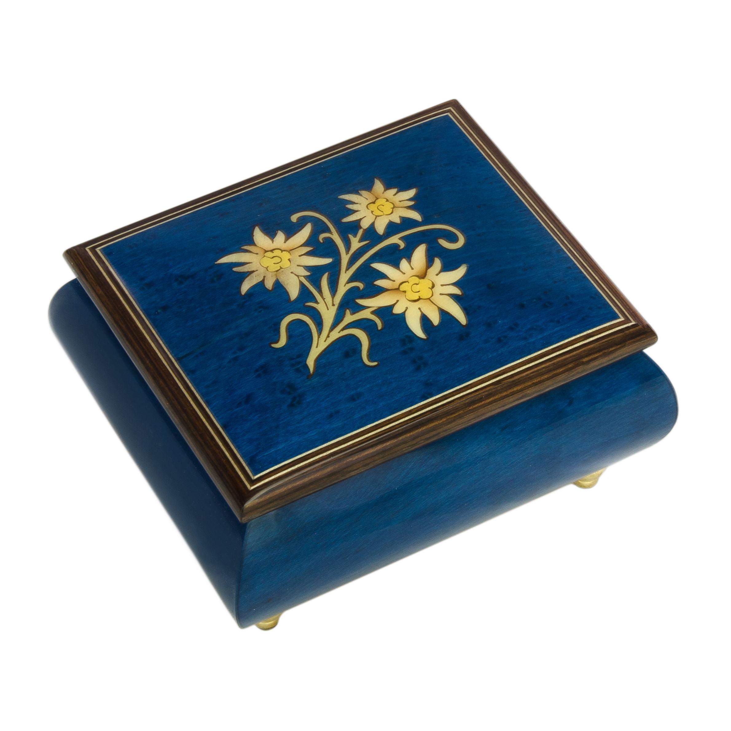 Rodi 40e06 Blue Edelweiss Rodi Music Box Souvenir Amp More