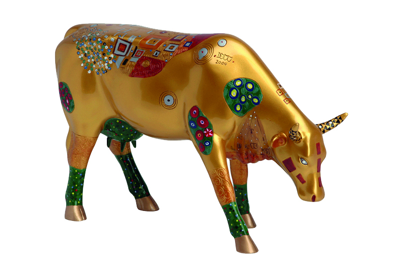 Cow Parade Klimt Cow