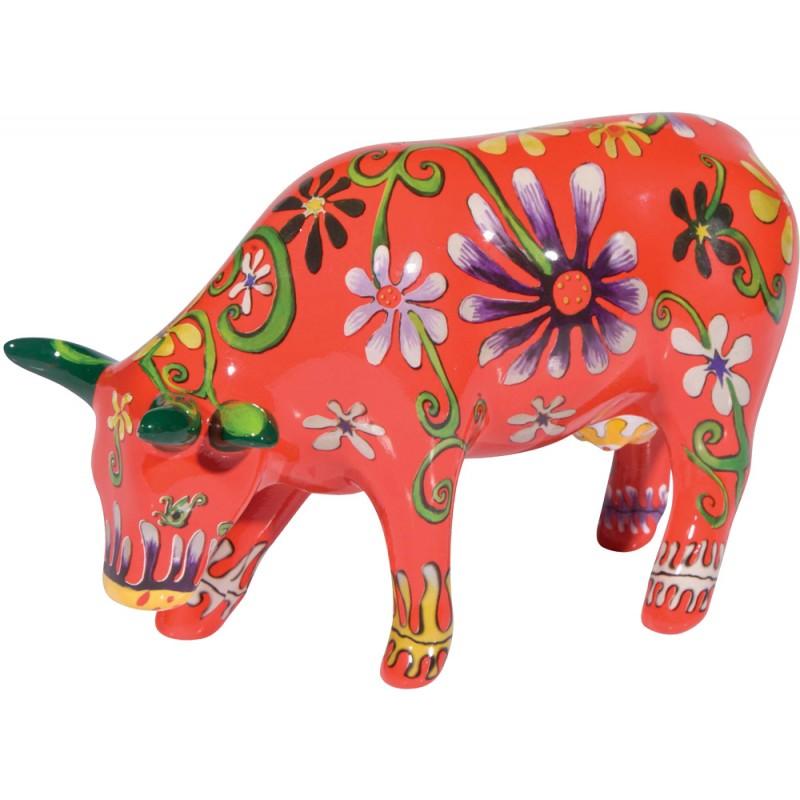 Cow Parade Flower Lover Cow Medium Cowparade