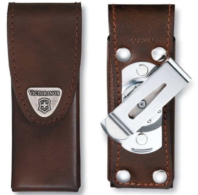 Victorinox Leather Pouch With Rotating Clip For Swisstool