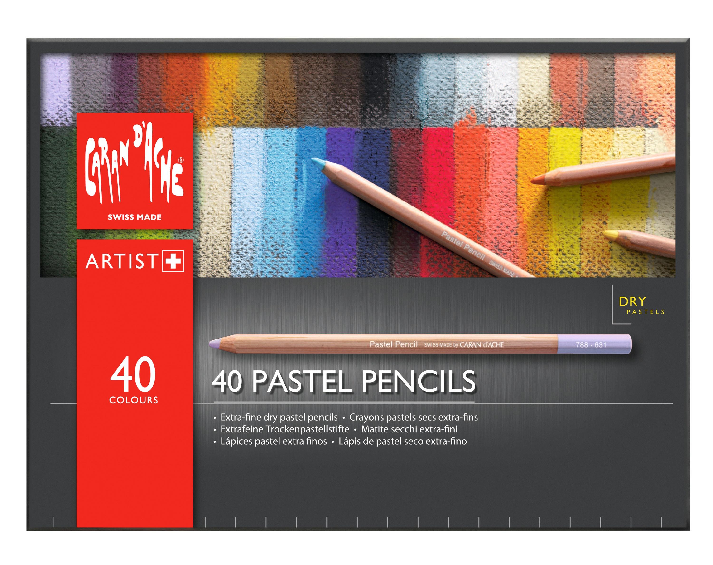 Set of 40 Caran D/'ache Pastel Pencils