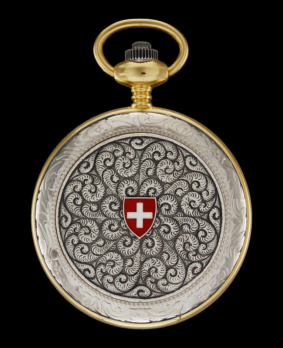 Jacques Du Manoir Pocket Watch Quartz Simple Cover