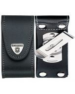 Victorinox Black Leather Pouch 91/93 mm 5-8 layers with rotating clip