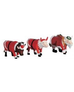 Cow Parade 3-Pack Christmas Art Pack