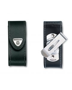 Victorinox Black Leather Pouch 91/93 mm 2-4 layers with rotating clip