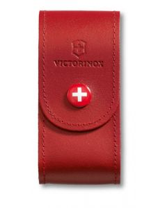 Victorinox Red Leather Pouch 91/93 mm, 5-8 layers