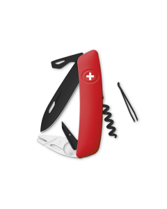 SWIZA Swiss Knives ALLBLACK Edition TT03 Red
