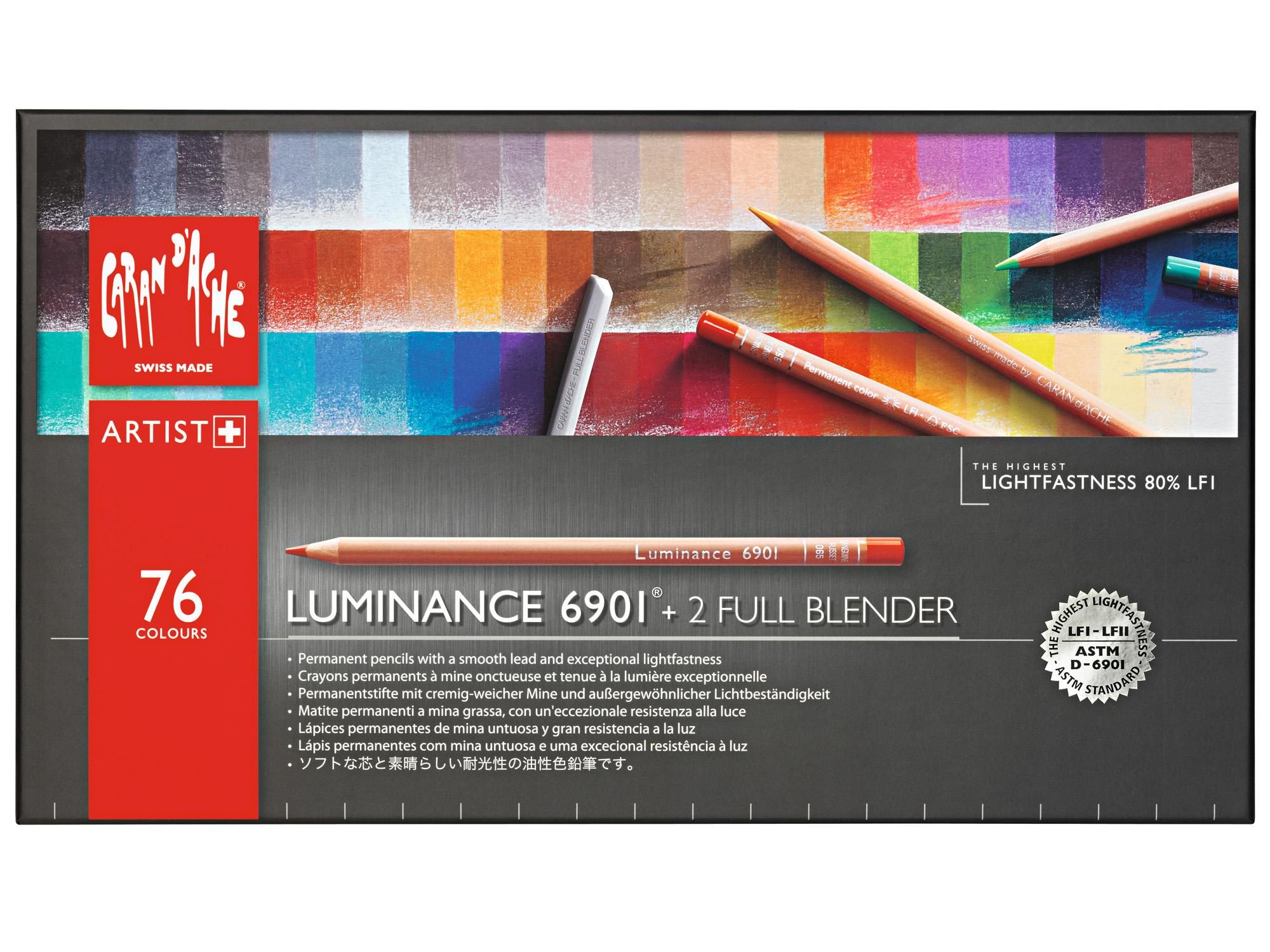 Caran D Ache Luminance 6901 174 Box Of 76 Pencils 2 Full