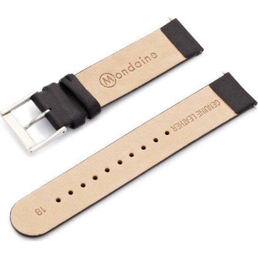 Mondaine Strap Black 18mm Watch Straps Mondaine