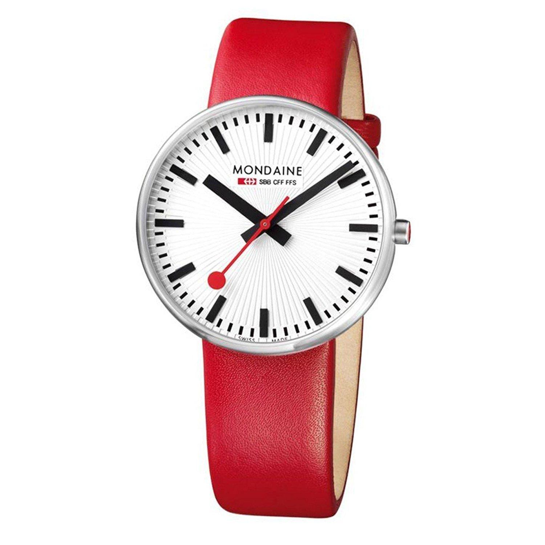 Mondaine strap red 22mm mondaine watches clocks - Mondaine travel clock ...
