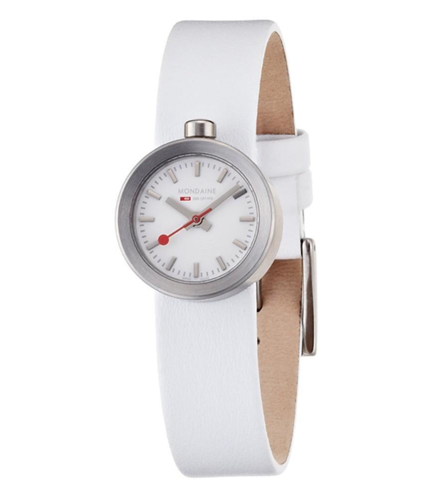 Mondaine strap white 14mm watch straps mondaine watches clocks - Mondaine travel clock ...