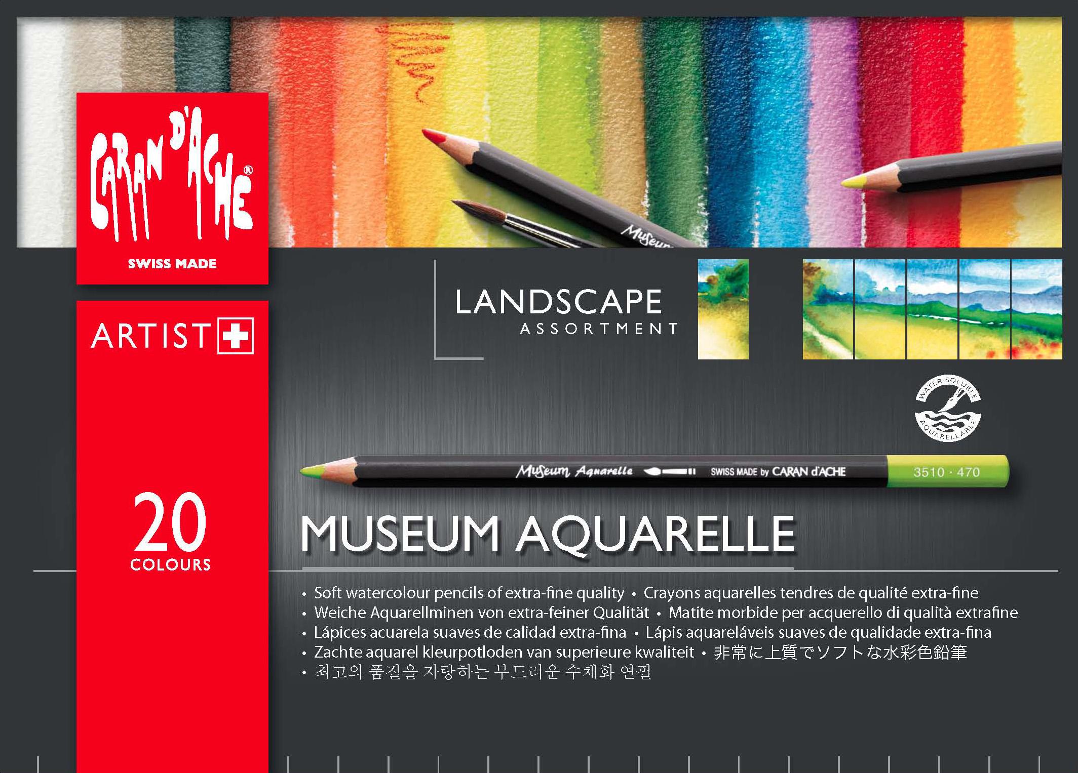 Caran D Ache Museum Aquarelle Landscape Assortment