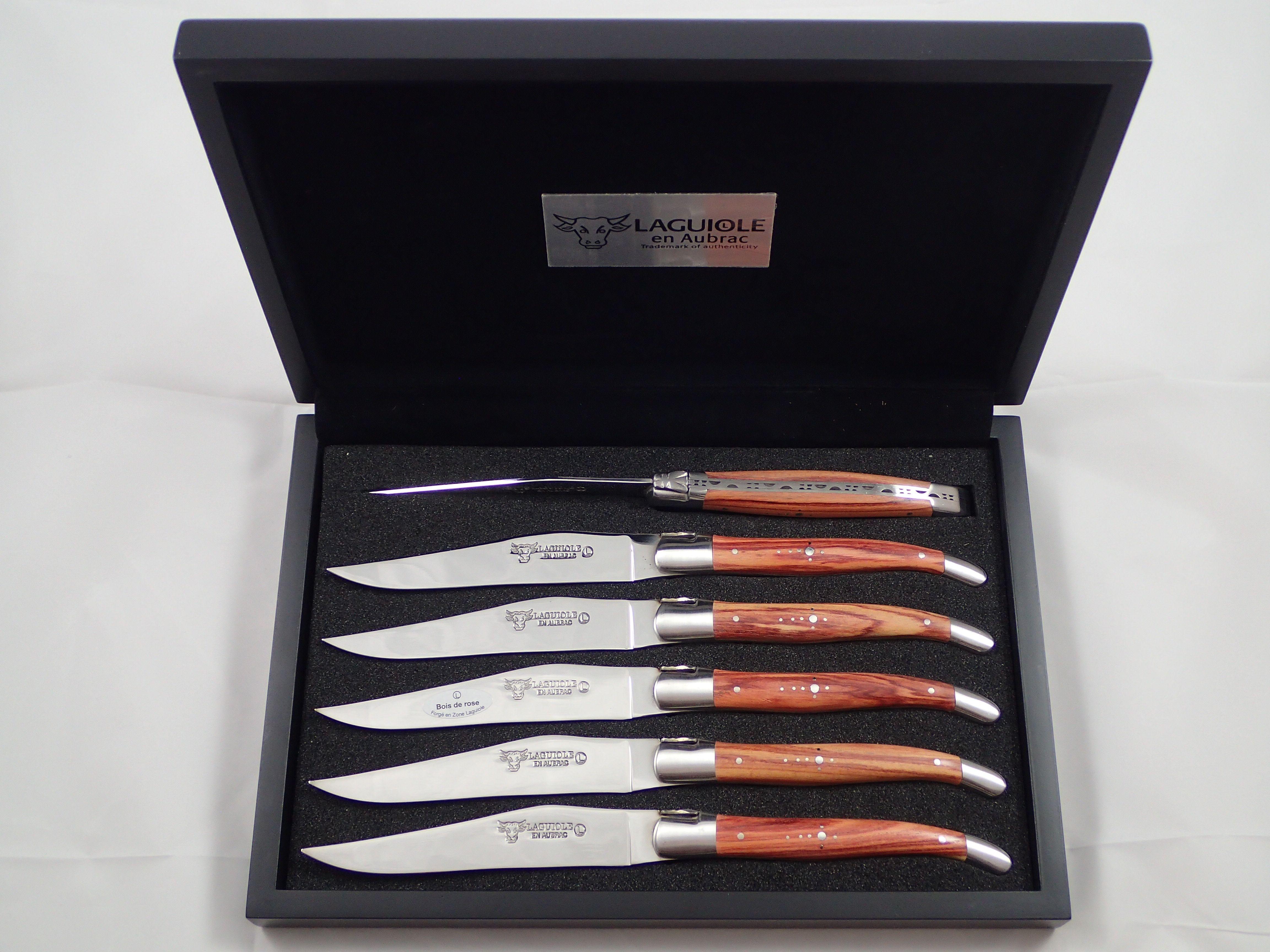 En Aubrac 6 Knives Set Rosewood