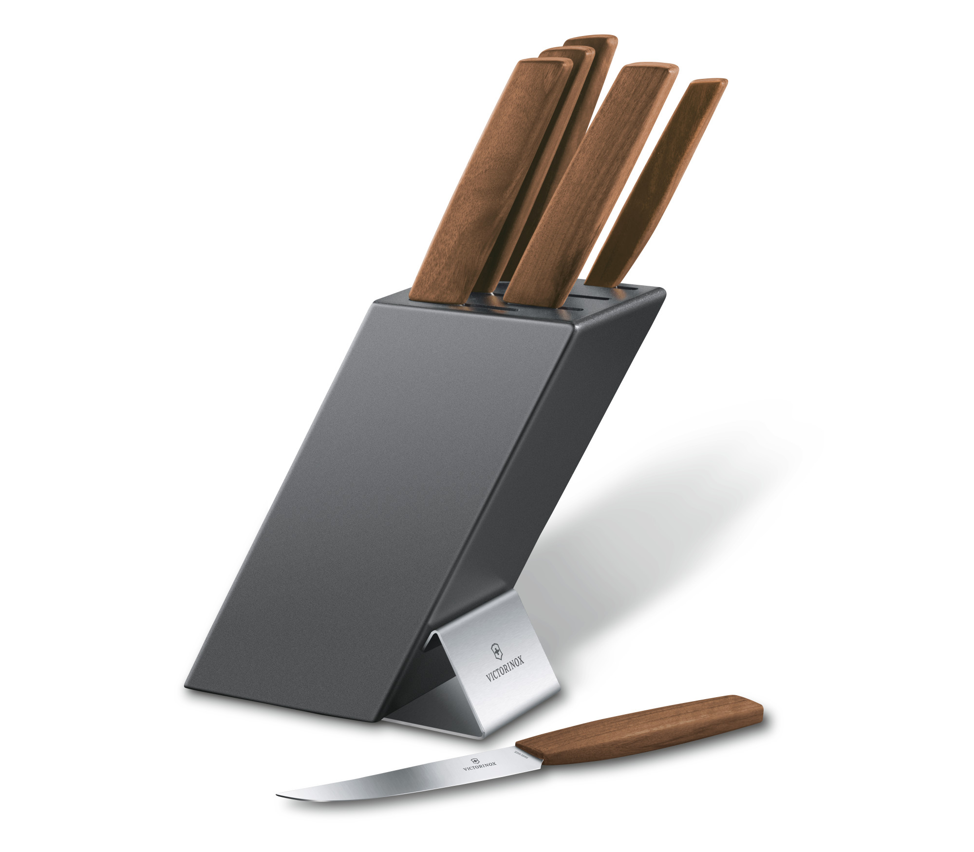 Victorinox Swiss Modern Cutlery Block 6 pieces - Swiss Modern ...