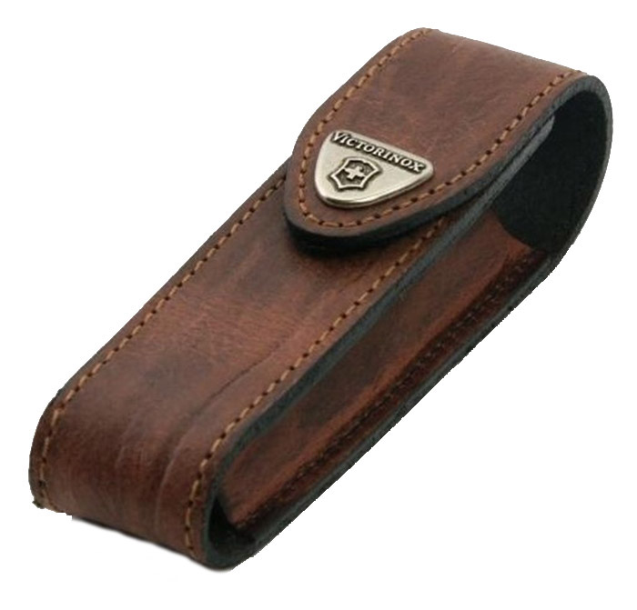 Victorinox Brown Leather Pouch 111 Mm 2 3 Layers Swiss