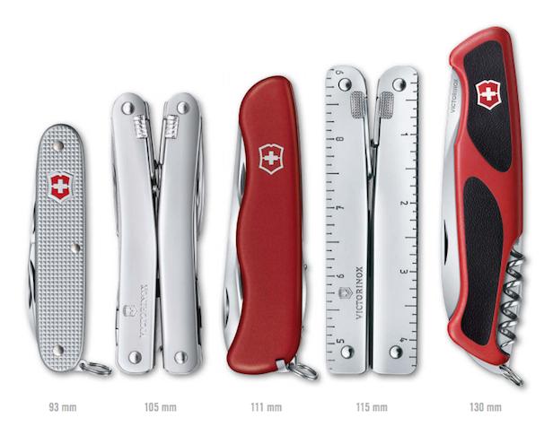 Swiss Army Knife Size Chart